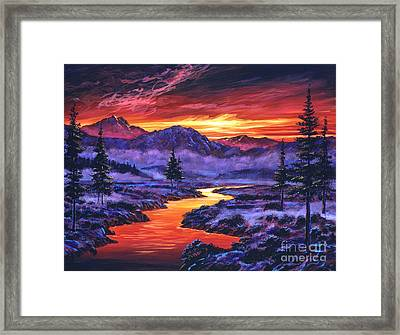Early Morning Frost Framed Print by David Lloyd Glover