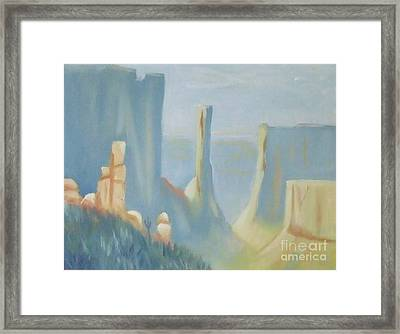 Early Morning In The Canyon Framed Print by Debra Piro