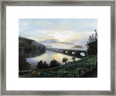 Early Morning Mist Framed Print