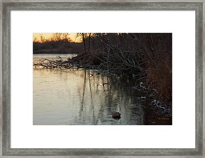 Early Morning Waterline Framed Print by Edward Peterson