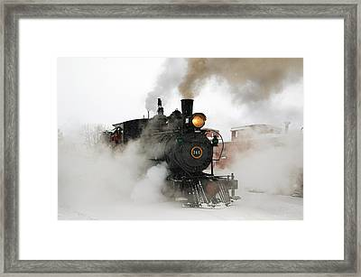 Early Morning Winter Steam Up Framed Print by Ken Smith