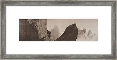 Early Mountaineering In The Alps Framed Print by Georges Tairraz