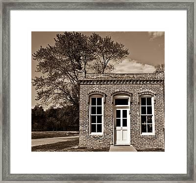 Early Office Building Framed Print by Douglas Barnett