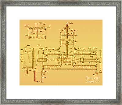 Early Patent For Accelerator, 1937 Framed Print by Photo Researchers