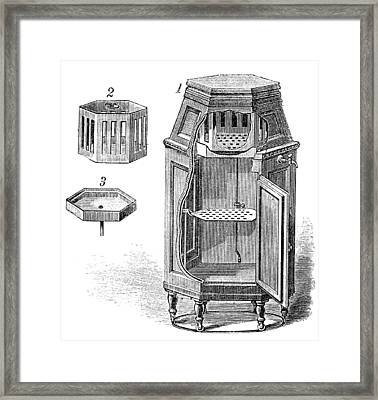 Early Refrigerator, 19th Century Framed Print by