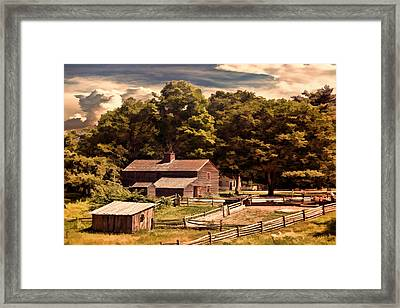 Early Settlers Framed Print by Lourry Legarde