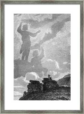 Early Sighting Of Brocken Spectres, 1797 Framed Print
