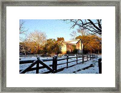 Early Snow Day Framed Print by Bill Cannon