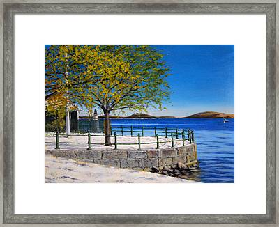 Early Snow South Boston  Framed Print