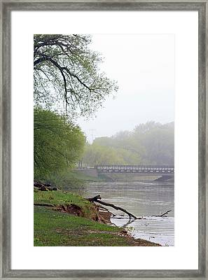 Framed Print featuring the photograph Early Spring Morning Fog by Kay Novy