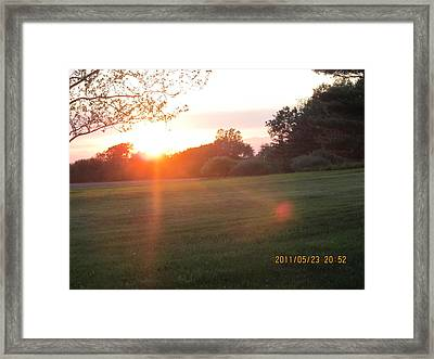 Framed Print featuring the photograph Early Spring Sunset by Tina M Wenger