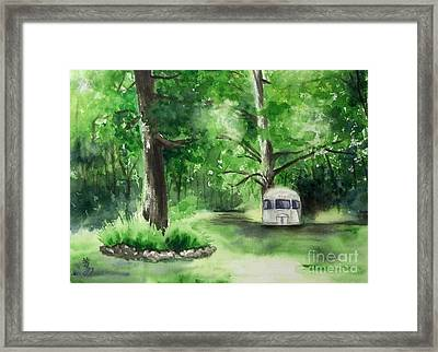 Framed Print featuring the painting Early Summer At The Geddes Farm --ann Arbor Michigan by Yoshiko Mishina