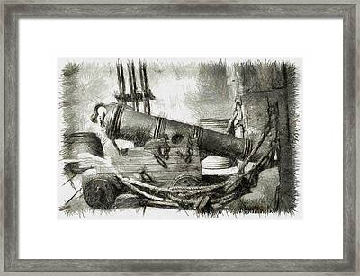 Early Years Of Artillery - Pencil Framed Print