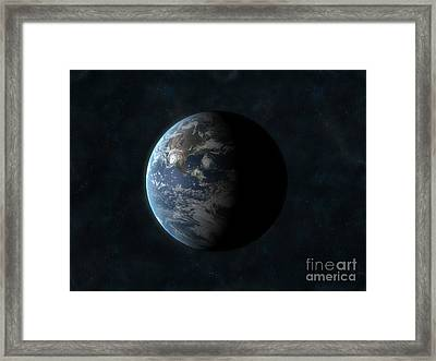 Earth Framed Print by Carbon Lotus