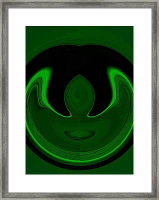 Earth Day Batman Framed Print by Mary Ann Southern