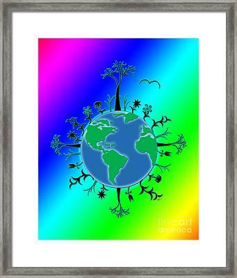 Earth Day Brillance Framed Print