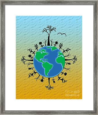 Earth Day Texture Framed Print