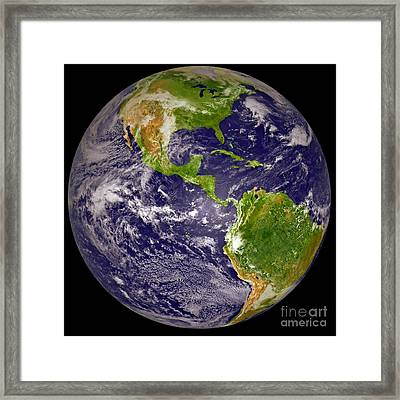 Earth From Space 2 Framed Print