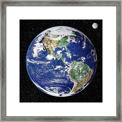 Earth From Space, Satellite Image Framed Print by Nasa Goddard Space Flight Center (nasa-gsfc)