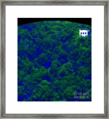 Earth House Framed Print by Maria Scarfone