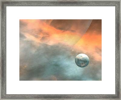 Framed Print featuring the digital art Earth by John Pangia