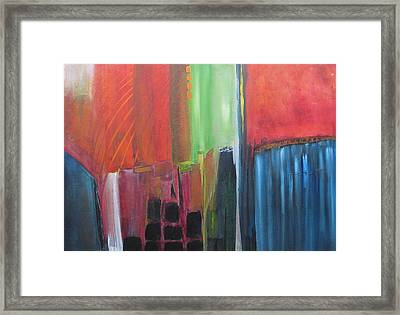 Earth Layers Framed Print