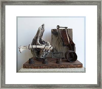 Earth Radio Framed Print by Snake Jagger