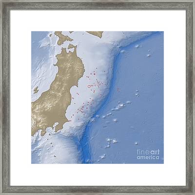 Earthquake And Tsunami Near Sendai Framed Print