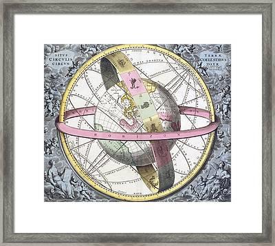 Earth's Celestial Circles, 1708 Artwork Framed Print