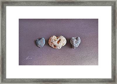Earth's Hearts Framed Print by Elena Kolotusha