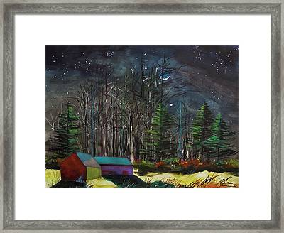 Earthshine Framed Print