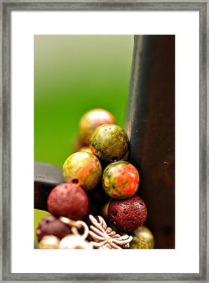 Earthy Stones  Framed Print by Puzzles Shum