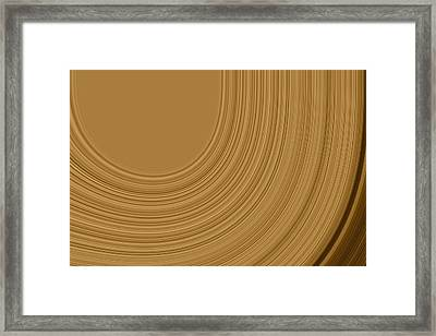 Earthy Swirls Framed Print by Bonnie Bruno
