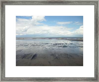 East Coast Seascape Framed Print by Sarah Couzens