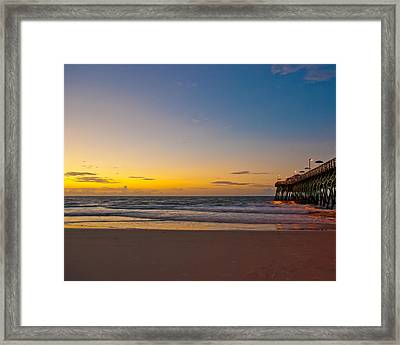 East Coast Sunrise Framed Print