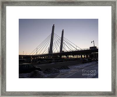 East End Bridge Framed Print by David Bearden