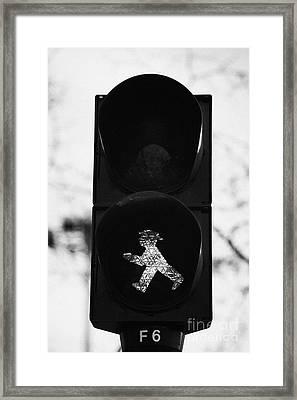 East German Ampelmannchen Go Walking Traffic Light Man Berlin Germany Framed Print by Joe Fox