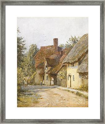 East Hagbourne Berkshire Framed Print by Helen Allingham