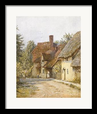 England Town Framed Prints