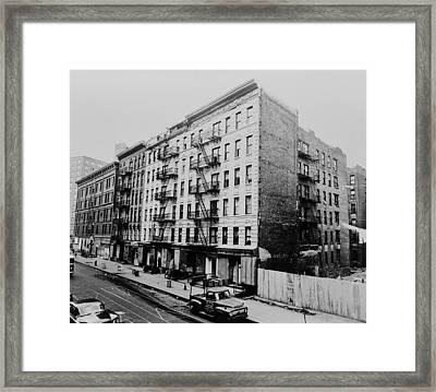 East Harlem Street And Large Tenement Framed Print by Everett