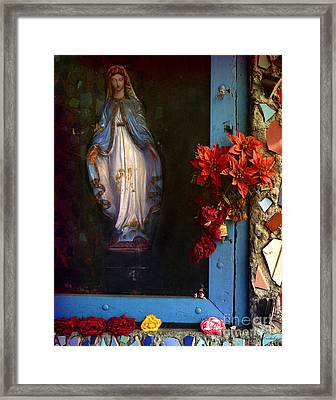 East La Mary Framed Print by Lawrence Costales