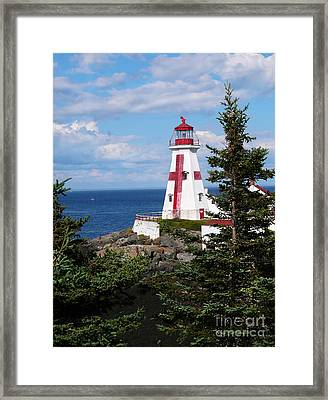 East Quoddy Head Lighthouse Framed Print by Jeanne  Woods