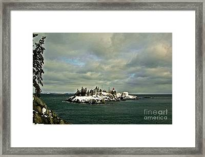 East Quoddy Lighthouse Framed Print by Alana Ranney