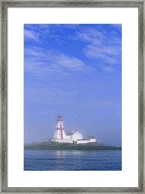 East Quoddy Lighthouse, Campobello Framed Print by John Sylvester