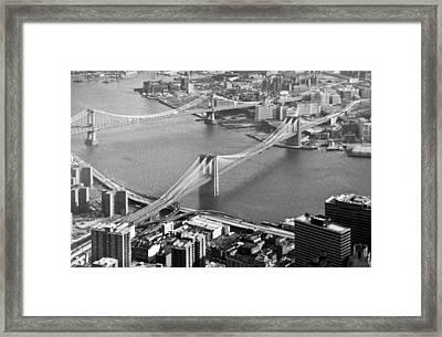 East River Bridges New York Framed Print