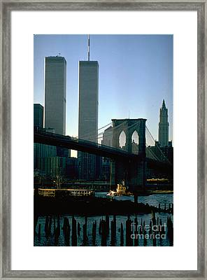 East River Tugboat Framed Print