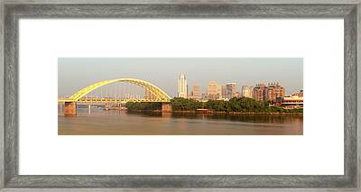 East Side Pano Framed Print by Keith Allen