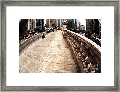 East Wacker Framed Print by John Rizzuto