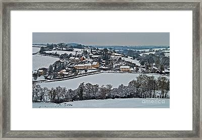East Worlington In The Snow  Framed Print by Rob Hawkins