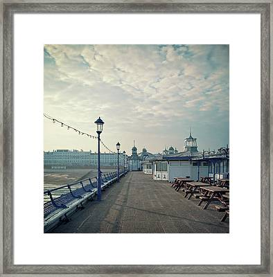Eastbourne Pier Promenade Framed Print by Paul Grand Image